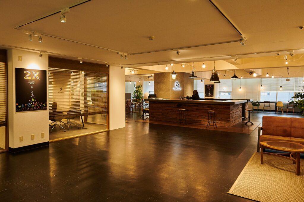 株式会社トレタのカフェスペース